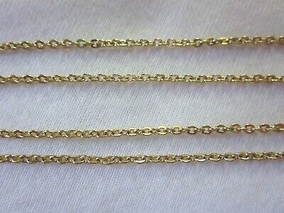 1 x 70cm Gold Plated 2mm Premium Flat Cable Chain #2106 Jewellery Making Craft