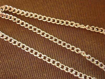 1 Metre Length Silver Colour Plated 3mm Curb Chain #1069 Jewellery Making Craft