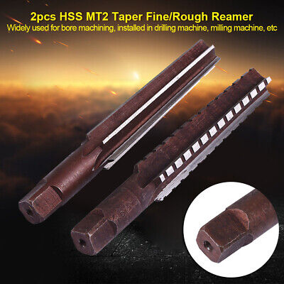 1 Set Of High Speed Steel MT2 Morse Taper Reamer Straight Shank Cutter Tools New