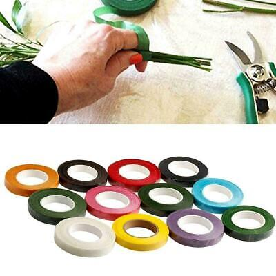 Durable Rolls Waterproof Coloful Florist Stem Elastic Flower Tape Floral 12 E0T7