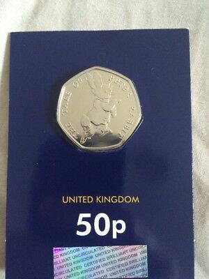 2017 50p COIN NEW THE TALE OF PETER RABBIT Fifty Pence BRILLIANT UNCIRCULATED