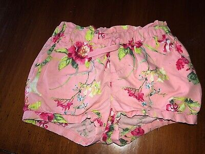 Baby Gap Girls Pink Floral Elastic Waistband Shorts Size 5 Years