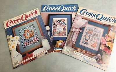 3 - Cross Quick Magazines Easy Projects for Cross Stitch Lovers Free Shipping!