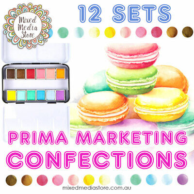 Prima Marketing Watercolour Confections   ALL 12 SETS AVAILABLE!