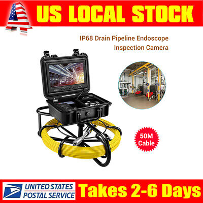 """9"""" 164ft Pipeline Inspection System φ23mm Waterproof Sewer Camera Video DVR 8GB"""