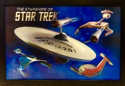 Star Trek 3D Lenticular 12X17.5  Hanging Decor! Brand New!