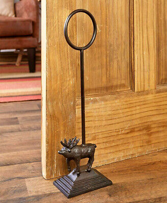 Cast Iron Heavy MOOSE Door Stop Stopper Country Farmhouse Rustic Primitive