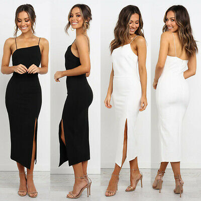 Elegant Sexy Women Summer Strappy Sleeveless Bodycon Cocktail Prom Gown Dress CA