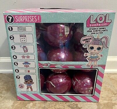 Lol Surprise Sparkle Untouched Case Of 18 Balls In Hand New