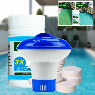 100 tablets Pool Cleaning Tablet &applicator-  FREE SHIPPING MAGIC CLEANING