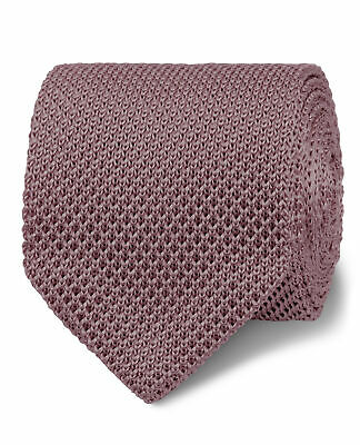 T.M.Lewin Seasonal Pink Knitted Silk Slim Tie