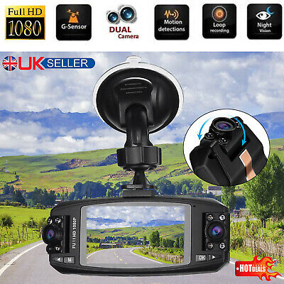 LCD Dual Lens Car DVR Dash Cam Front and Rear Mirror Camera Video Recorder 1080P