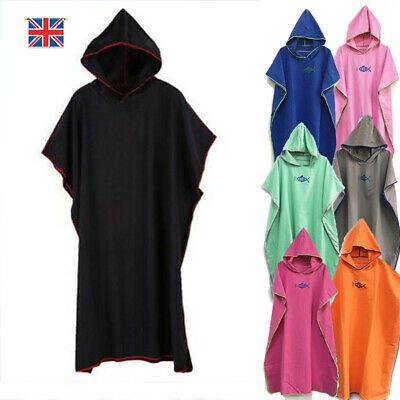 Beach Robe Colourful Hooded Poncho Adult Towel Changing Robe Surf Kitesurf Swim