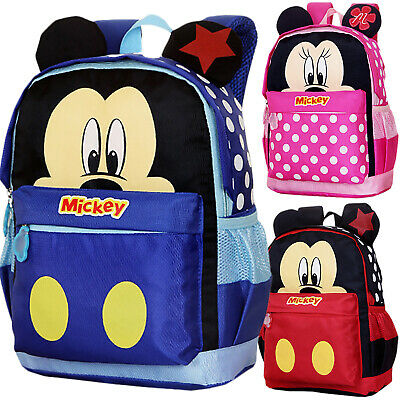 AU Toddler Kids Mickey Mouse Cartoon School Bag Backpack Cute Rucksack Schoolbag