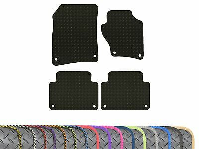 Fully Tailored Fit Black Rubber Floor Mats 4pc Car Mat Front Rear Set for VW Up