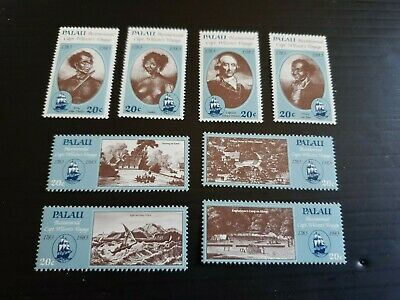 Palau 1983 Sg 34-41 Bicent Of Captain Henry Wilsons Voyage Mnh
