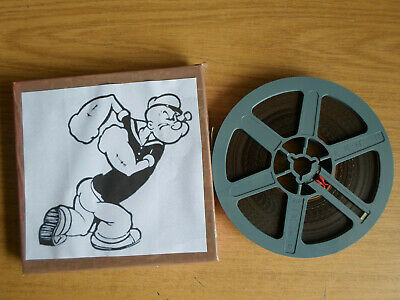 Super 8mm sound 1X200 FOR BETTER OR NURSE. Popeye cartoon.