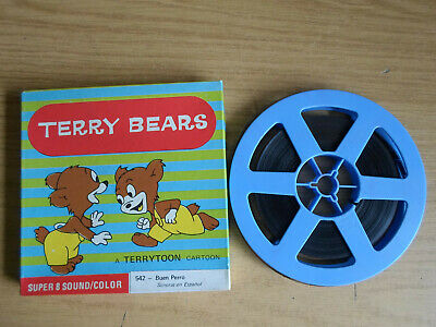 Super 8mm sound 1X200 NICE DOGGY. Terry Bears cartoon. Spanish sound.
