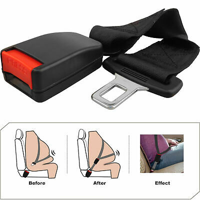 36Cm Universal Car Auto Safety Seat Belt Extension Extender Support Buckle Black