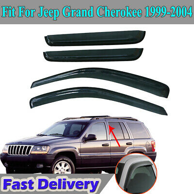 LT Sport Custom Fit 05-10 Jeep GrCherokee Side Window Visor Moonroof Wind Deflector Combo