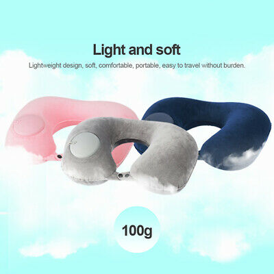U-shaped Air Plane Travel Pillow Rest Cushion Neck Support Soft Inflatale