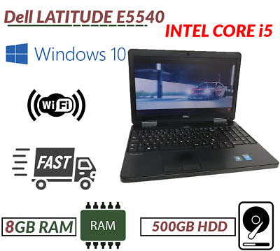 Dell E5540 Intel Core i5 4th Generation 15.6'' 8GB RAM 500 GB HDD Windows 10 DVD