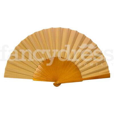 56cm Hand Fan Wooden and Fabric Natural Fan Abanico Spanish Dance Traditional