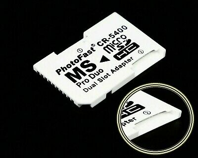 Mini TF to Memory Stick MS Pro Duo PSP Card Dual 2 Slot Adapter Converter NEW