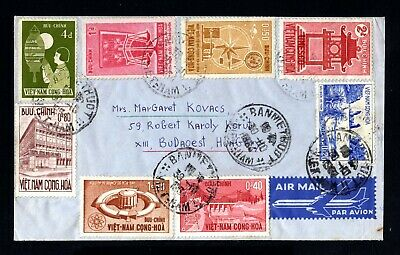 17270-VIETNAM-AIRMAIL COVER BANMETHUOT to BUDAPEST (hungary) 1964.AERIEN.