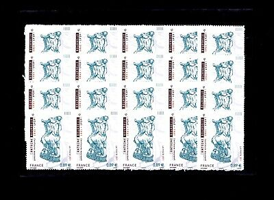 FRANCE ** AUTOADHESIFS n°  633 / MNH / 20 exemplaires / ANTOINE BOURDELLE /TTBE