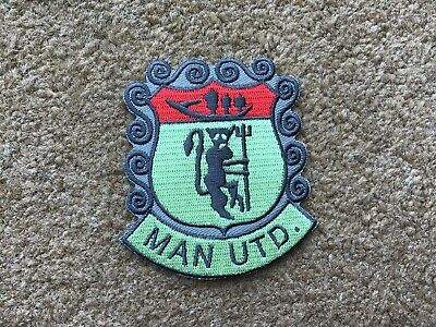 Large UK Manchester United Red Devil Football Old Trafford Iron On Patch Badge