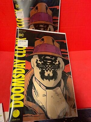 1 Doomsday Clock #1 Lenticular Signed By Geoff Johns DC Comics Rorschach CGC It