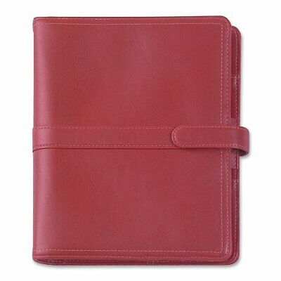 Day-Timer Simulated Leather Organizer, Magnetic Tab, Red (D44317)