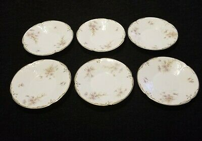 Vintage Lot Of 6 Rosenthal Classic Sanssouci Saucers Or Plates With Gold Trim