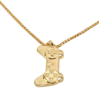 Men Boy Luxury Hip Hop Game Controller Necklace Pendant Gamer Gift Jewelry 6A