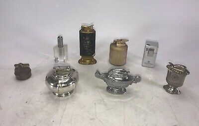 LOT OF 8 Assorted Vintage Table Lighters Colbri Ronson Evans and More