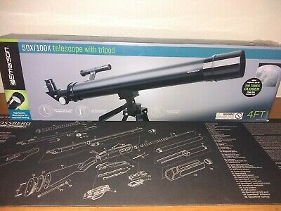 e9cfb860cccab EMERSON 50X/100X REFRACTOR Telescope With Adjustable Tripod In ...