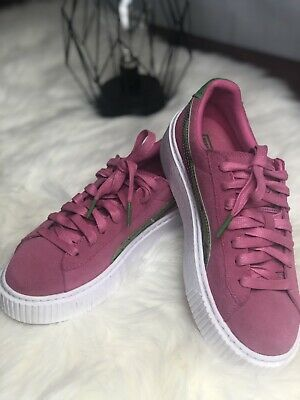 39ddd0aa57 PUMA BASKET PLATFORM Bling Junior - Grey - Girls - $40.00 | PicClick