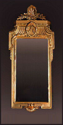 A Late 18th C.  Baltic/Swedish/Danish/North German Neoclassical Gilt Wood Mirror
