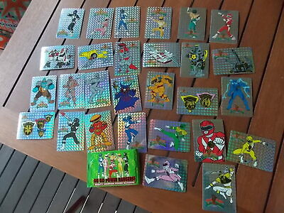 vintage 1995 Power Rangers cards prismatic reflective x 26 Fujifilm