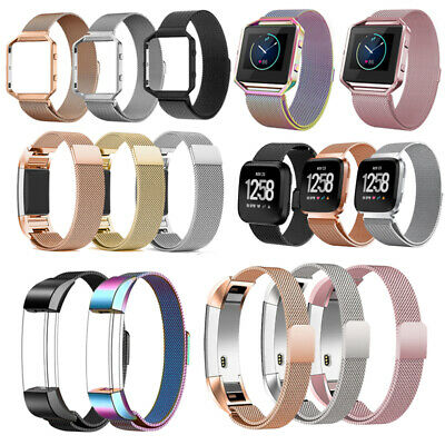 UK Milanese Replacement Watch Strap Band for Fitbit Charge 2 Alta HR Blaze Versa