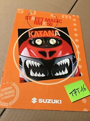 Suzuki Katana 50 AY50 50W R RMX50 Street Magic prospectus catalogue brochure