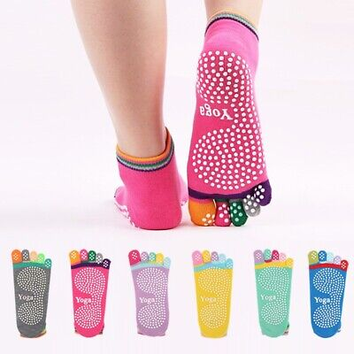Men Women Sport Yoga 5 Toes Socks Exercise Massage Cotton Pilates Anti-slip Sock