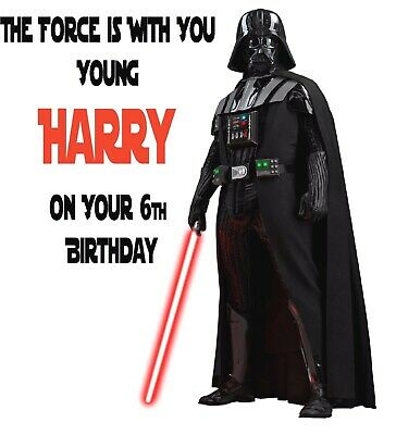 relation  Sith Personalised Any name Star Wars Darth Vader Birthday Card age