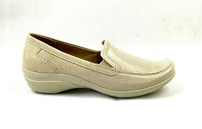 Ladies Hotter Envy Taupe Lizard Leather Comfort Flat Wedge Slip On Shoes