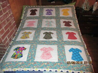 Very Pretty   Grammas Country Dress  Completed Quilt