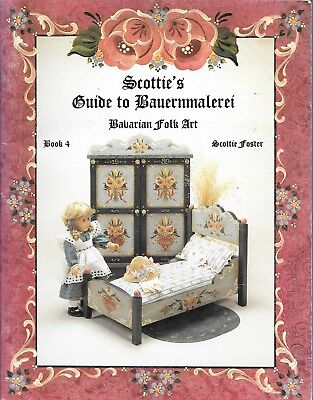 Scottie's guide to Bauernmalerei Bavarian folk art painting Book4 doll furniture