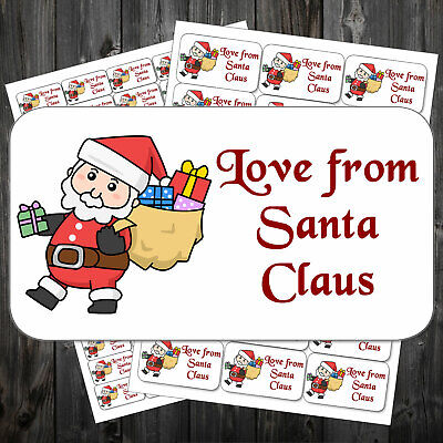 21 Christmas Gift Sticky Labels Stickers Tags Love From Father Christmas #aco