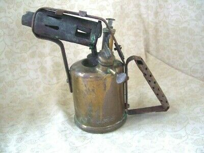 Vintage Brass Burmos Paraffin Blow Torch Lamp British Made