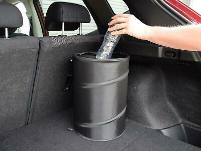 KUBO Large Pop Up Tidy Bin Black Car Foldable Travel Rubbish Waste Litter Basket